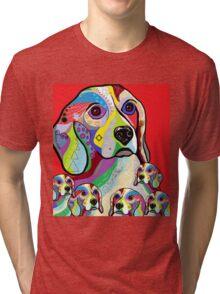 Beagle and Babies Tri-blend T-Shirt