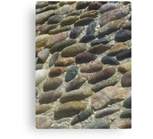 Rocks under the water Canvas Print