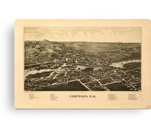 Panoramic Maps Carthage NY 1888 Canvas Print