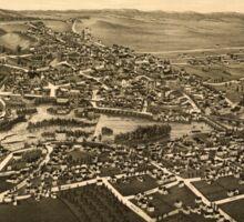 Panoramic Maps Carthage NY 1888 Sticker