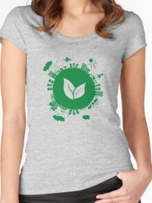 Grow Greens on Earth Women's Fitted Scoop T-Shirt