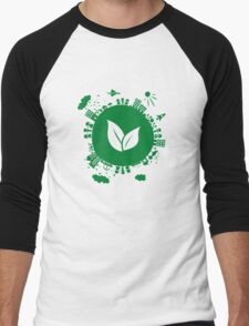 Grow Greens on Earth Men's Baseball ¾ T-Shirt