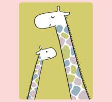 Giraffe family One Piece - Long Sleeve