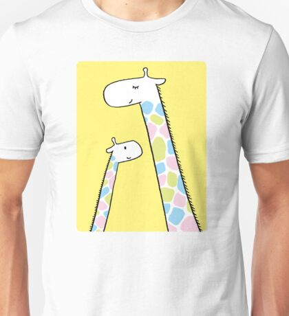 Giraffe family Unisex T-Shirt