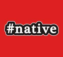 Native - Hashtag - Black & White One Piece - Short Sleeve