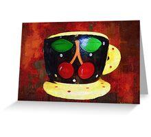 Cherry Espresso Greeting Card