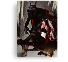 Red Beauty and the Beast Canvas Print
