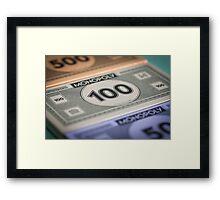 Monopoly money Framed Print