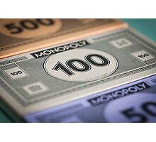 Monopoly money Photographic Print