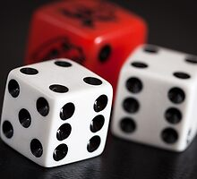 """double six"" 3 dice by Darren Sharp"