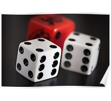 """double six"" 3 dice Poster"