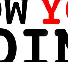 How You Doin? - Joey Tribbiani Sticker