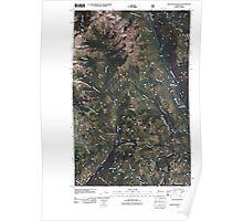 USGS Topo Map Washington State WA Sweetgrass Butte 20110427 TM Poster