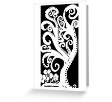 Twisting and Twirling Tree in Black and White Greeting Card