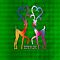 Deers In Love - Green*02 by Vidka Art