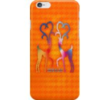 Deers In Love - Orange*02 iPhone Case/Skin