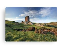 Smailholm Tower Landscape Canvas Print