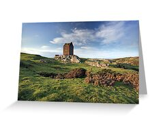 Smailholm Tower Landscape Greeting Card