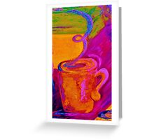 Contemporary Coffee Cup Greeting Card