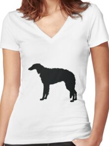 Borzoi Women's Fitted V-Neck T-Shirt