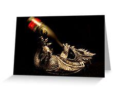 Drunken Dragon Greeting Card