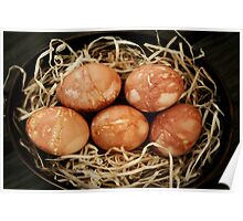 Rustic Dyed Eggs Poster