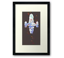 Minimalist Serenity - Leaf On The Wind Framed Print