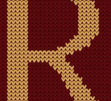 Weasley Sweater Letter R Sticker