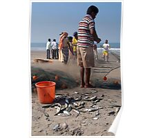 Fishermen Sorting the Catch Arambol Poster