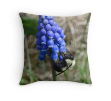 Bees and grapes Throw Pillow