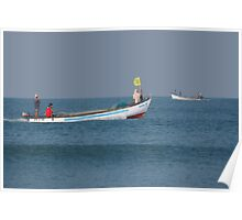 Fishing Boats North Goa Poster