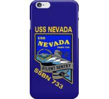 USS Nevada (SSBN-733) Crest for Dark Colors iPhone Case/Skin