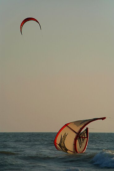 Kitesurfer Down Mandrem by SerenaB