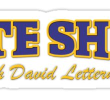 Late Show with David Letterman TV Series Sticker