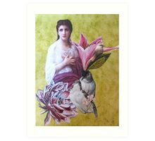 Penelope With Birds Art Print