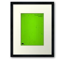 The Giant Spider Invasion minimalist poster (green) Framed Print
