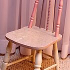 Hand Painted Child's Chair  by Sandra Foster