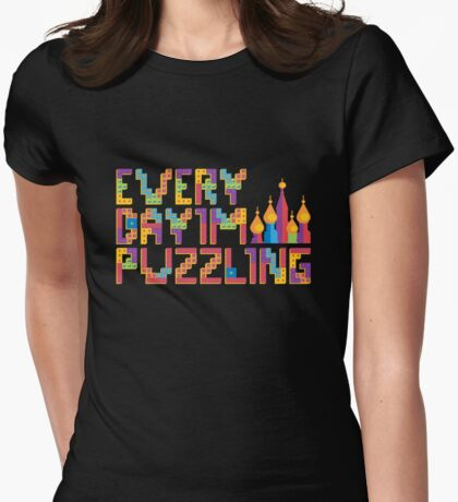Tetris Puzzling Womens Fitted T-Shirt