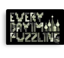 Tetris Puzzling Original Canvas Print