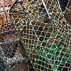 Stack of lobster fishing baskets  by Magdalena Warmuz-Dent