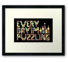 Tetris Puzzling Retro Framed Print
