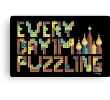 Tetris Puzzling Retro Canvas Print