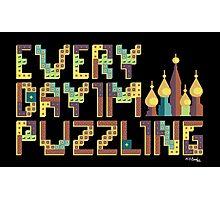Tetris Puzzling Retro Photographic Print