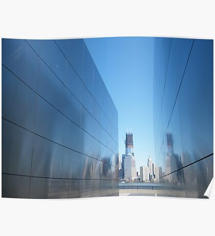 """9/11 Memorial, """"Empty Sky"""", New World Trade Center in Backround,Liberty State Park, Jersey City, New Jersey   Poster"""