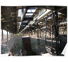 Abandoned New Jersey Central Railroad Terminal  Shed, Liberty State Park, Jersey City, New Jersey  Poster