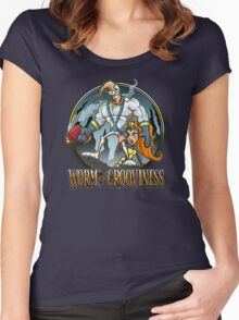Worm of Grooviness Women's Fitted Scoop T-Shirt