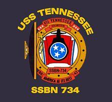 USS Tennessee (SSBN-734) Crest for Dark Colors Unisex T-Shirt