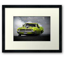 OUTLAW Burnout Framed Print