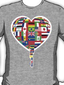 WORLD FLAGS BLEEDING HEART T-Shirt