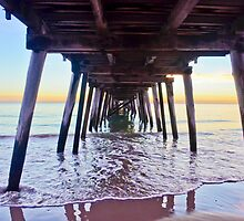 Under the Jetty @ Sunset by rebecca brace